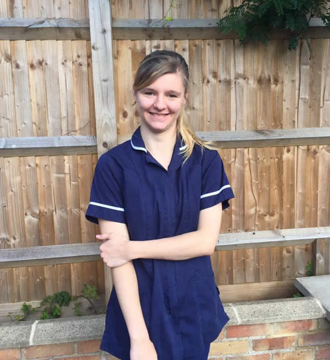 Vet nurse Assistant Nikki at Bicester Vets