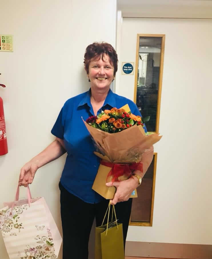 receptionist Debbie leaves Bicester vets
