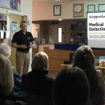 Talk at Bicester vets about supporting medical detection
