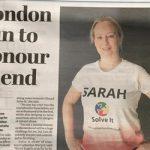 Sarah Vet nurse Bicester vets ran London half marathon