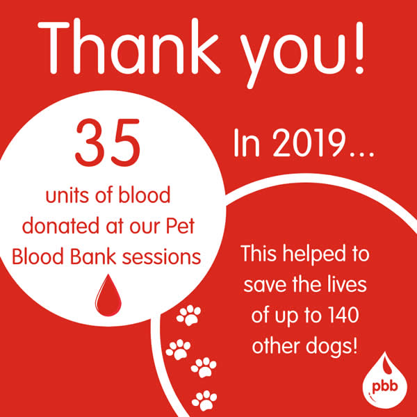 Thank you blood donor at Bicester vets