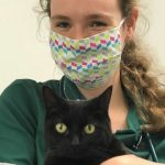 Bicester vets nurse with facemask