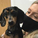 Winston & owner Bicester vets